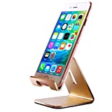 lg 2 mini accesories - iPhone Stand, iBarbe Cell Phone Stand, Aluminum Holder,Android Smartphone, Mobile Phone iPhone X,iPhone 8 6S,Samsung Mobile Phone, iPhone 7 Plus 5S 6 SE 5C,Galaxy S9 S7 Edge S8 etc. Charging - Gold