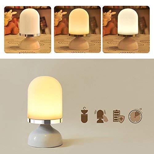 Tragbare LED Touch Nachttischlampe Kabellose Lampe Batteriebetrieben, bis 15 Std Licht, Aufladbar /über USB