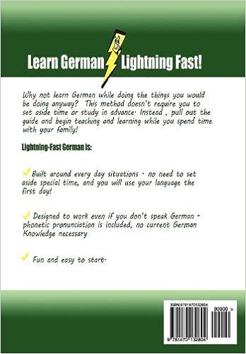 Lightning-Fast German for Kids and Families: Learn German, Speak ...