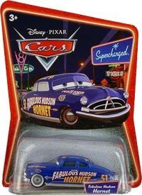 Disney Pixar Cars Supercharged Fabulous Hudson Hornet 1:55 Die Cast Car