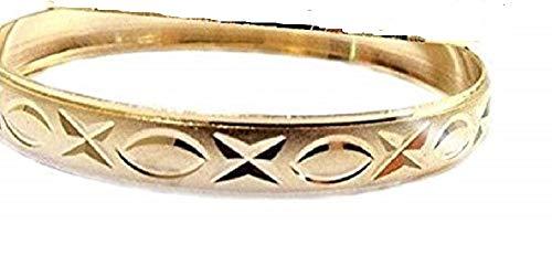 Girls Gold Bangle Bracelets Child Size Large, 2