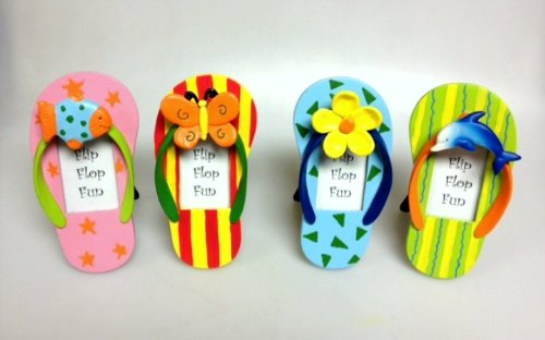 Flip Flop Photo Frames (Flip Flop Picture Frame 4 Pcs Asst)