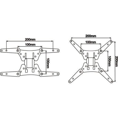 Parts Express Universal TV Mount Adapter VESA 100 to 200 x 200 or 200 x 100 by Parts Express (Image #1)
