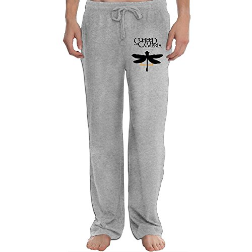 PTR Men's Coheed And Cambria Classic Dragonfly Symbol Workout Pants Color Ash Size XL (Dragon Airsoft Gun)