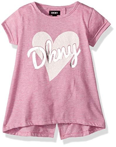 DKNY Girls High Low Slit Back Top