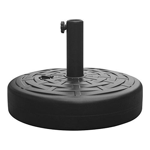 Base Fillable (Homebeez Plastic Umbrella Stand (Black Round 18 inch))