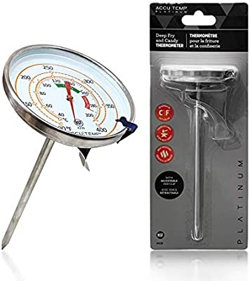 AccuTemp Platinum Deep Fry and Candy Kitchen Thermometer with Adjustable Pan Clip