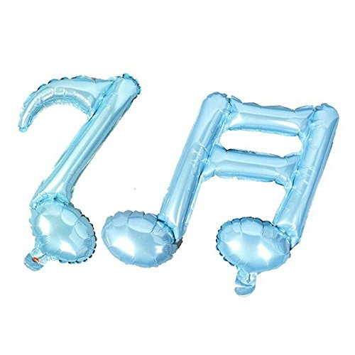 Pushhr Baby Mylar Decoration Various Color Birthday Baby Shower Party Musical Note Wedding Foil Balloon (Foil Musical)