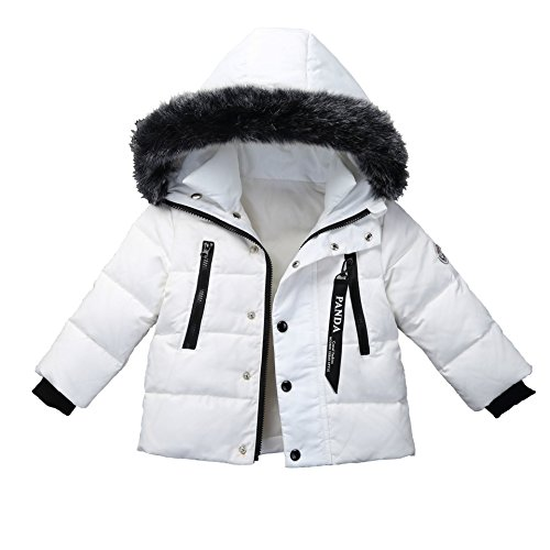Jacket Girls Boys Winter Down Puffer Warm Windproof White Foyeria Baby For Outdoor Coat Coat Winter 8aaAwx