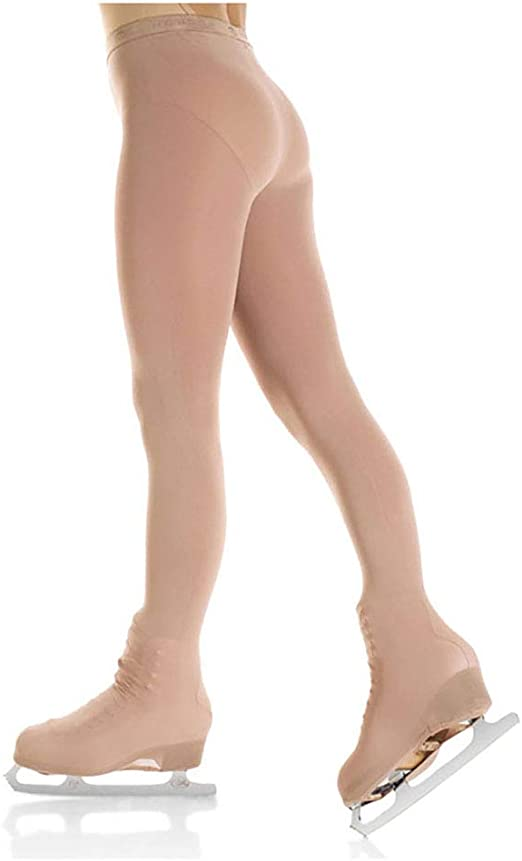 Details about  /Mondor Opaque HEEL COVER Performance Figure Skating Tights Light Tan ALL SIZES