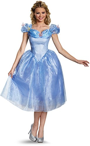 (Disney Disguise Women's Cinderella Movie Adult Deluxe Costume, Blue,)