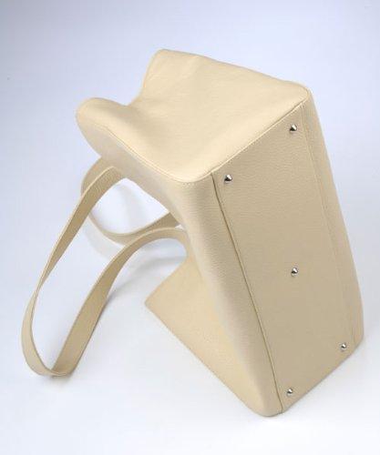 Damenhandtasche Annabelle aus Leder von diboni ® - crema/beige