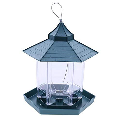 Hanging Bird Feeder Gazebo (TabEnter Garden Bird Feeder Gazebo Style Hanging Hummer Feeder Outdoor Wild Bird Seed Station with 6 Feeder Ports)