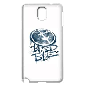 Samsung Galaxy Note 3 Cell Phone Case White Bleed Blue ZKH Custom Phone Cases Clear
