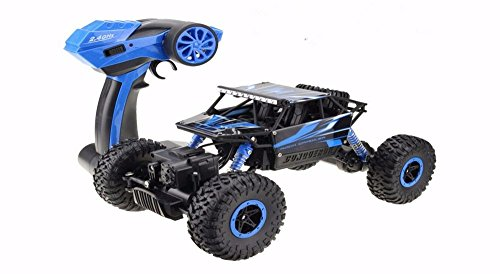 Price comparison product image DeXop RC Car, 2.4Ghz Electric Rock Crawler Off-Road High Speed Racing Remote Control Car Radio RC Truck Blue