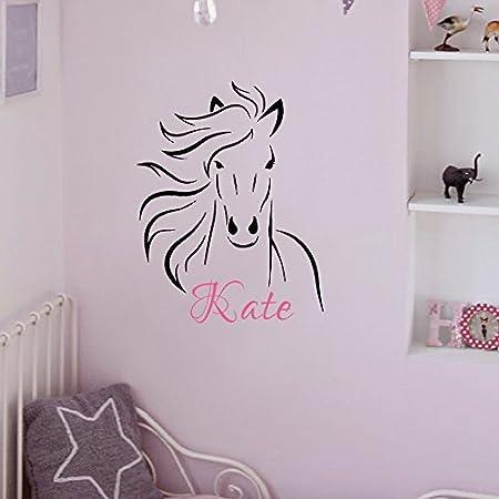Pared adhesivo decoración personalizada Nombre caballo ...