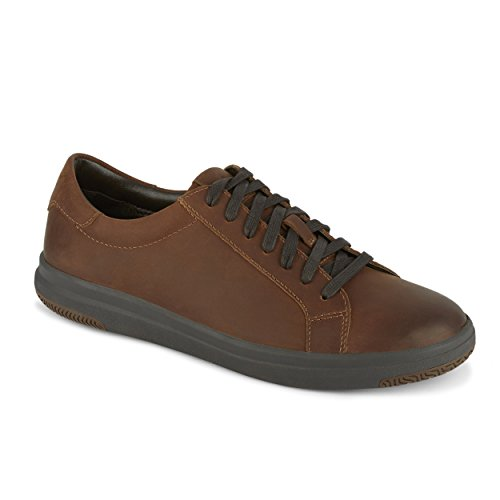 Dockers Mens Gilmore Leather Casual Fashion Sneaker Shoe, Chocolate, 11 ()