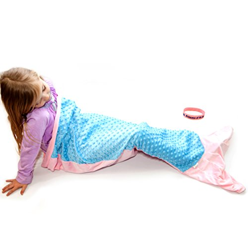 Princess of the Sea Mermaid Minky Blanket Tail and Wristband (Mermaid Tails)