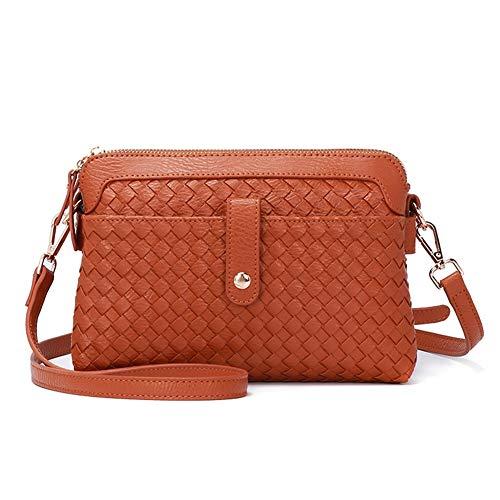Forestfish Womens Crossbody Bags Shoulder Bag Totes Handmade Top-Handbags for Women Girls, Brown