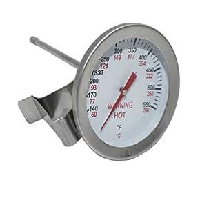 Broilmann parrilla termómetro para Big Green Egg, de cúpula de, parrilla Kamado repuesto termómetro, 2pulgadas Dial, 5(tallo F Indicador de calor, calor calibre