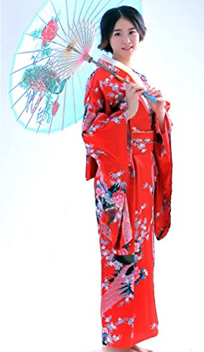 d0f1ecdc52 Soojun Women s Traditional Japanese Kimono Style Robe Yukata Costumes