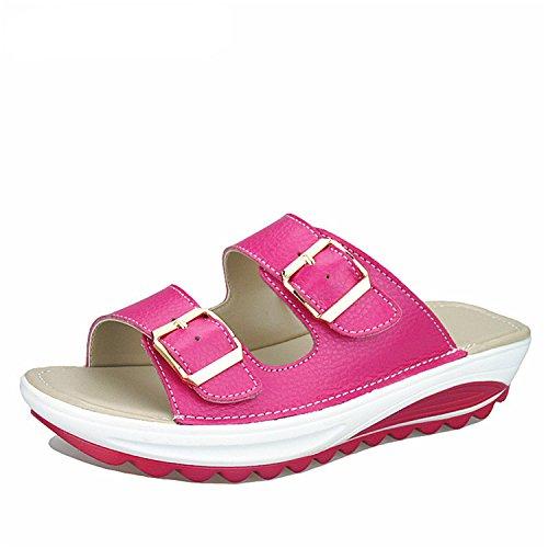 Solid Penin Toe 2018 Women Sweet Slides RoseRed 8 Women Shoes Green Open 5 Knot Flat Butterfly Summer Fashion Rhinestone Beach Slippers I6IpqFWwr