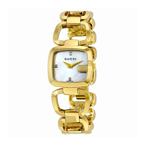 Gucci G-Gucci Mother of Pearl Dial Gold-Tone SS Quartz Ladies Watch YA125513