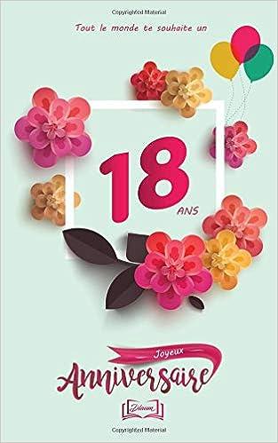 Joyeux Anniversaire 18 Ans Thème Girly Livre à