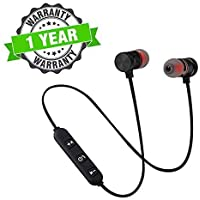 TISWAQ Bluetooth Headphone with Noise Isolation and Hands-Free Mic and Buttons with Magnetic Earbuds Secure Fit for Gym, Running and Outdoor