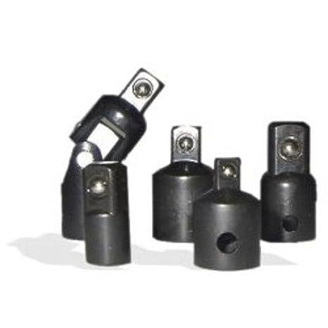 "5pc Air Impact Socket Adapter Reducer Set 1//4/"" 3//8/"" 1//2-inch Drive /& Swivel"