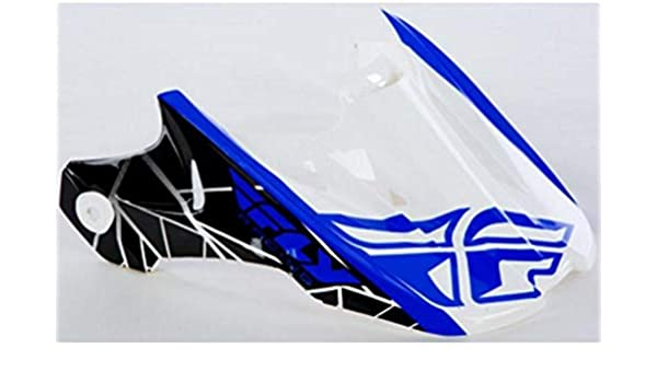 FLY RACING KINETIC CRUX VISOR WHITE//BLACK//BLUE 73-47904