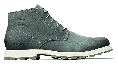 Sorel - Men's Madson Chukka Waterproof Boots, Suede, Quarry/Fawn, 10.5 M US