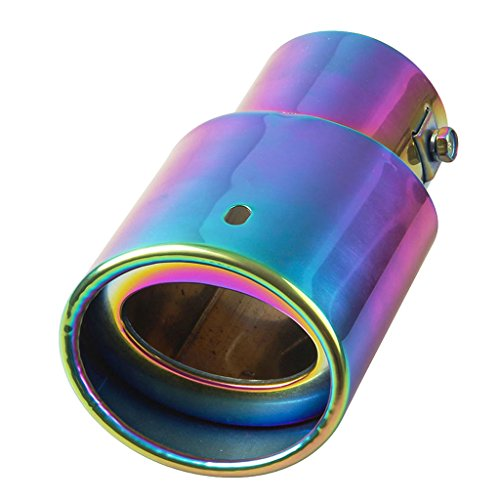 Price comparison product image Baoblaze 2.5'' Car Auto Exhaust Pipe Tail Muffler Tip Stainless Steel 127mm