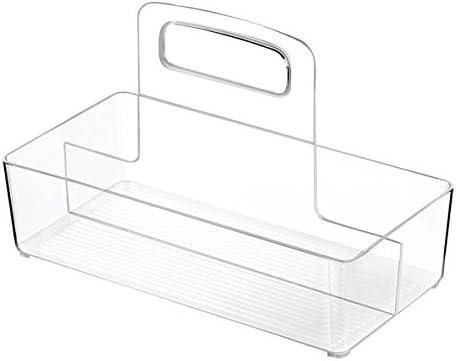 Claro Refrigerador Gabinete con Manijas iDesign Linus Organizador Integral de Alacena 25.7x13x16.8 cm