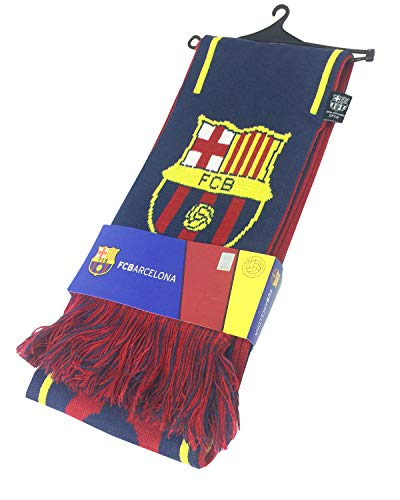(FCB FC Barcelona Authentic Official Licensed Soccer Scarf (Blue))