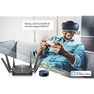 D-Link AC3000 High-Power Wi-Fi Tri-Band Router With Voice Control With Amazon Alexa Or Google Assistant, Wi-Fi Mesh…