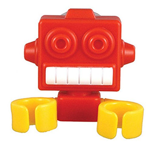 Robot Toothbrush Holder Suction Cup Bathroon Tooth Brush Multifunction (Red)