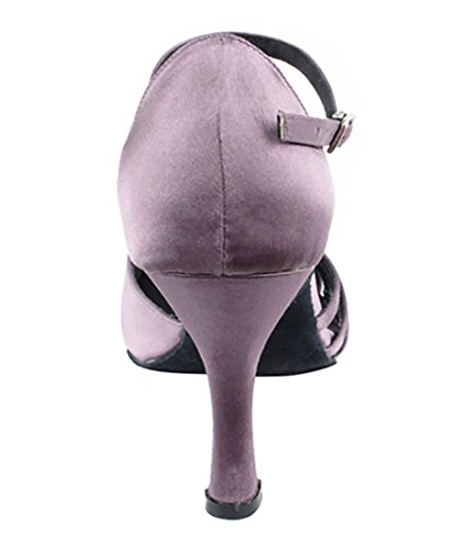 Very Fine Ballroom Latin Tango Salsa Dance Shoes for Women SERA3870 3-Inch Heel + Foldable Brush Bundle Lavender Satin 8sx0n