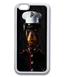 Custom Case with BULLDOG MARINE DIY Back Snap On Case for iPhone 6 4.7 TPU Black