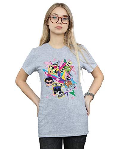 shirt Sport Gris Comics Fit Icons Go Femme Petit Titans Teen 80s Ami Dc T 7q6OAwPO