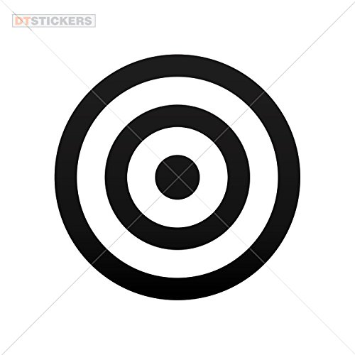 Decal Stickers Target Graphic Motorbike Boat (6 X 6 In. ) Vinyl color Black