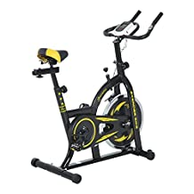 Soozier Stationary Exercise Bike Indoor Bicycle Cycling Cardio Workout Training with LCD Black