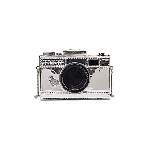 forma SilverSmall fotocamera catena pochette bag laser ragazze Silversmall di DUmulan Messenger borsa Personalità donna di flip lusso unica moda mini a tracolla Rw7WqOF