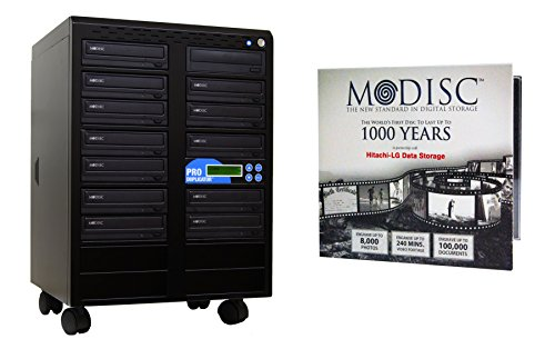 Produplicator 1 to 12 24X M-Disc Support CD DVD Duplicator Bundle with 1 Pack M-DISC, Nero Essentials Burning Software (Standalone Duplication Tower) by Produplicator
