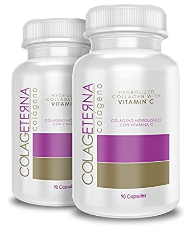 Colageterna Hydrolyzed Collagen with Vitamin C Supplement - 90 Capsules (2)