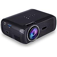 NUOLUX U80 PRO 1080P HD 1000 Lumens LED Mini Portable Home Theater Projector (Black)
