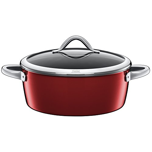 Silit professional stew pot, Casserole, Saucepot, Silargan, Vitaliano Rosso, 28 cm, also suitable for induction, 0128186811