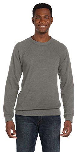 Bella + Canvas Unisex Sponge Fleece Crew Neck Sweatshirt, Medium, Grey Triblend