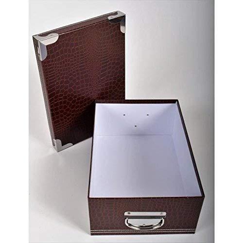 /Juego de Cajas de cart/ón para almacenaje G/én/érique Box/ //–/marr/ón