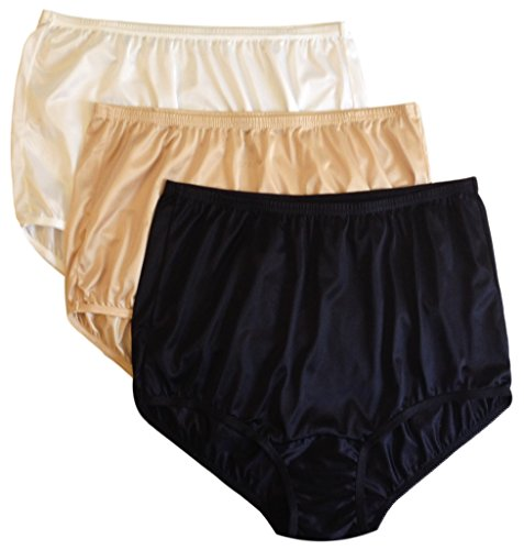 Vanity Fair Classic Ravissant Tailored Brief - Pack of 3-15712 (12, WDB Multi) ()